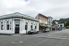 Victorian storefronts in Ferndale, USA Royalty Free Stock Photography