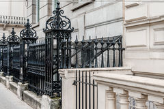 Victorian street black metal fence. Image was taken on August 2013 in London Stock Photos