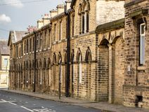 Victorian street, Saltaire royalty free stock photos
