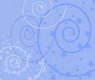 Victorian style blue background Stock Image