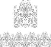 Victorian Style Border. Stylized repeatable Victorian style outlined border Stock Images