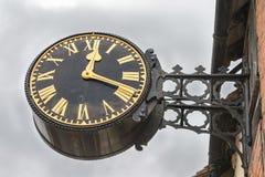 Victorian style English village clock Royalty Free Stock Image