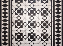 Victorian style floor tile pattern Stock Photos