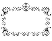 Victorian Style Frame Stock Photography
