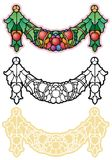 Victorian style harvest swag, updated in fantasy style. Fruit and leaves swag, harvest symbol Royalty Free Stock Photography