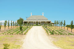 Victorian style house on Wolf Blass winery estate. Royalty Free Stock Photo