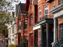 Victorian style houses Stock Photography