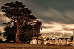 Victorian style houses, Alamo Square, San Francisco, California, Royalty Free Stock Photo
