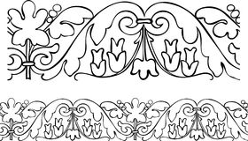Victorian style outlined borde Royalty Free Stock Photos