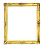 Victorian Style Photo Frame isolated on white background. A Golden Victorian Style Photo Frame isolated on white background Stock Photography