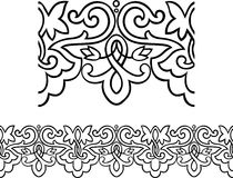 Victorian style repeating border Stock Images