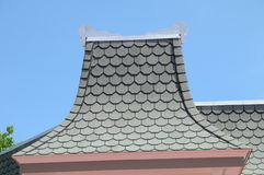 Victorian Style roof peakl in Mackinaw Michigan. Image of a Victorian Style roof peak in Mackinaw Michigan Royalty Free Stock Photography