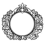 Victorian Style Round Frame Royalty Free Stock Image