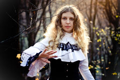 Victorian style. Young woman stock photo