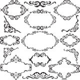 Victorian swirl ornate set Stock Image