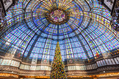 Victorian tainted glass ceiling Stock Image