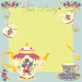 Victorian Tea Party Invitation Royalty Free Stock Image