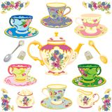 Victorian Tea Set Royalty Free Stock Photos