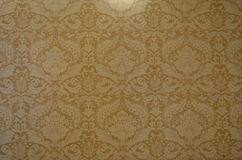 Victorian texture. Yellow victorian and luxury texture close up stock photo