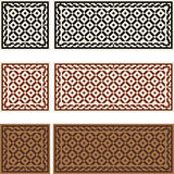 Victorian Tiles. Seamless mosaic Victorian tile patterns and borders royalty free illustration