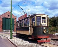 Victorian tram, Dudley. Stock Photo