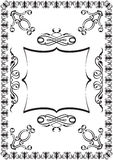 Victorian trasery frame Royalty Free Stock Image