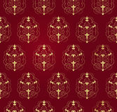 Victorian  vector pattern. Element with Scrolls and swirls Royalty Free Stock Images