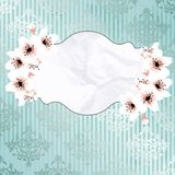 Victorian vintage banner with apple blossoms Royalty Free Stock Photography