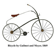 Victorian vintage bicycle vector - Illustration isolated on whit Stock Photography