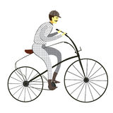 Victorian vintage bicycle vector - Illustration isolated on whit Stock Photo