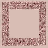 Victorian Vintage Floral Frame border. In a hand drawn style Stock Photography
