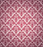 Victorian vintage flowers seamless wallpaper pattern. Royalty Free Stock Image