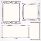Victorian vintage frame set Royalty Free Stock Images