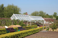 A Victorian walled garden royalty free stock image