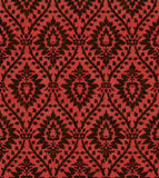 Victorian Wallpaper 101. A dark red victorian wallpaper pattern textured background Stock Photo