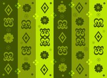 Victorian wallpaper. Wallpaper with Victorian and floral design elements Stock Photography