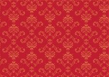 Victorian  wallpaper Pattern. Vector illustration of red elegant Victorian retro motif wallpaper Pattern Stock Photo