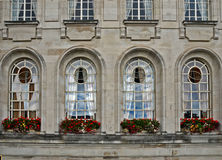 Victorian windows. Cardiff Royalty Free Stock Image