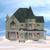 Victorian Winter House Royalty Free Stock Photography