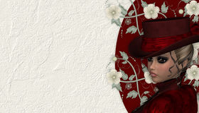 Victorian Woman Background Royalty Free Stock Image