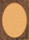 Victorian Wood Frame with Oval Photo Area Royalty Free Stock Image