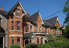Victorian working class row houses Royalty Free Stock Images