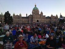 Victorias Parlament BC stockbild