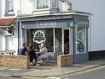Victorias pie and mash shop Royalty Free Stock Image