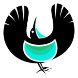 Victorias Riflebird. Stylized Victorias Riflebird - vector illustration Stock Photography