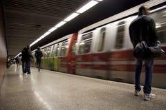 Victoriei gångtunnelstation Arkivbild