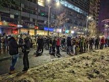 Victoriei piata января 2017 протеста Бухареста Стоковые Фото