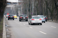 Victoriei route midday traffic Stock Photography