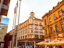Victoriei street Bucharest Romania Stock Photo
