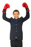 Victorious business man Royalty Free Stock Photo